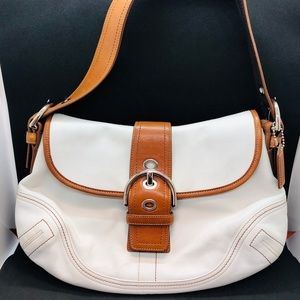 Coach Hobo Handbag cream and brown leather